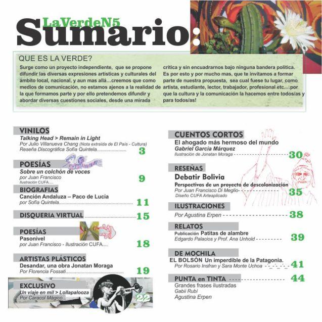 sumario La Verde